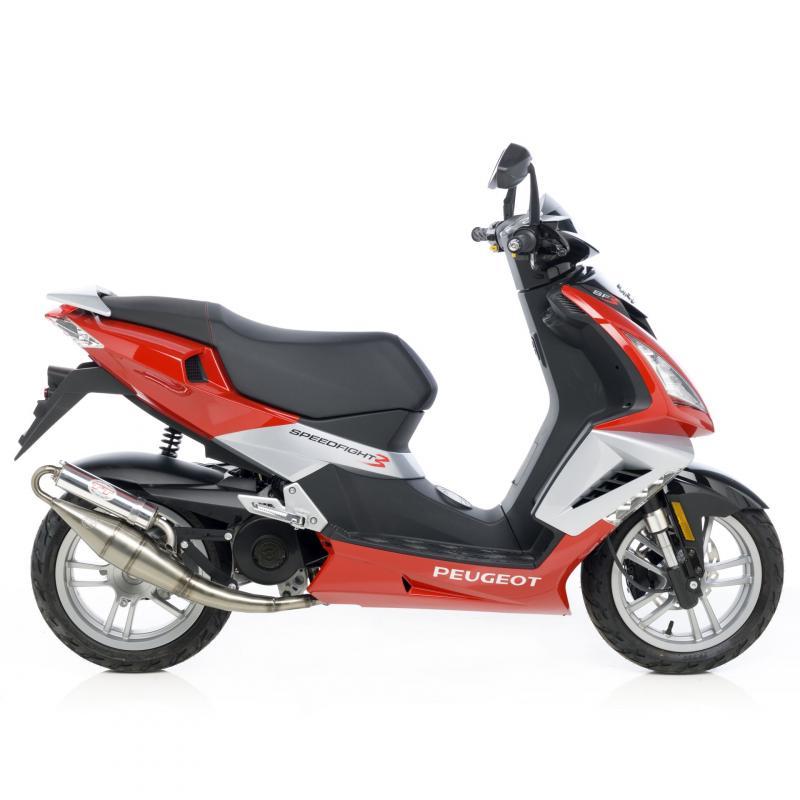 Pot d'échappement scooter Leovince Hand Made TT pour Peugeot Speedfight 3 50 09-11 - 1