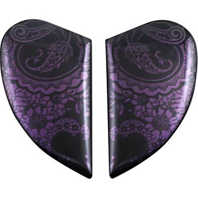 Plaques latérales Icon pour casque Airform Chantilly opale violet/vert caméléon