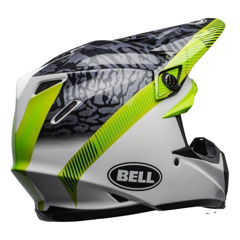 Casque cross Bell Moto-9 Mips Chief noir/blanc/vert - 6