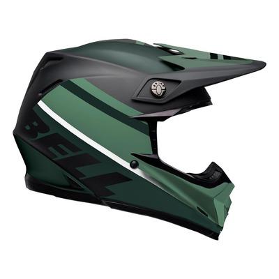 Casque cross Bell Moto-9 Mips Prophecy Mat noir/vert foncé