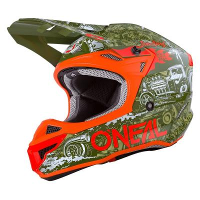Casque cross O'Neal 5SRS HR Polyacrylite vert/orange