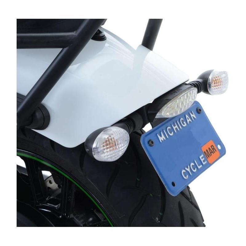 Support de plaque d'immatriculation R&G Racing noir Kawasaki Vulcan 650 S 15-18