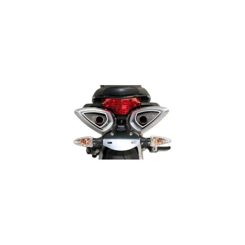 Support de plaque d'immatriculation R&G Racing noir Hyosung GT 650 R 05-17