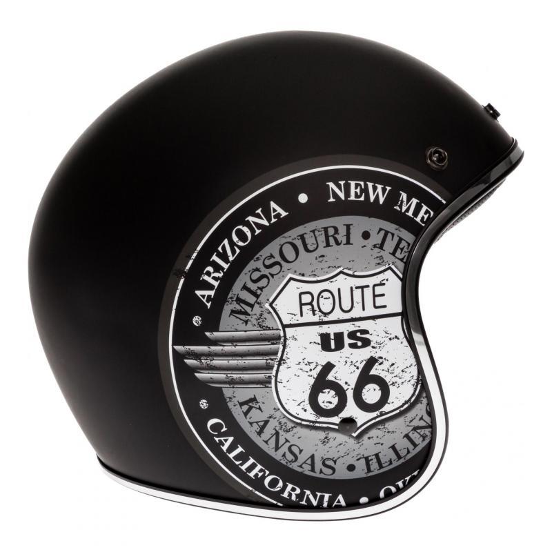 Casque jet AFX FX-76 Route 66 noir/gris - 2