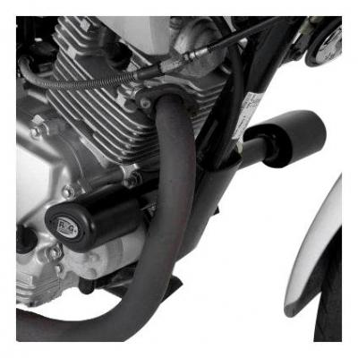 Tampons de protection R&G Racing Aero noir Yamaha YBR 125 05-17