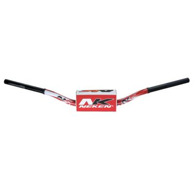 Guidon à diamètre variable Neken Radical Design K-Bar Japan rouge/blanc