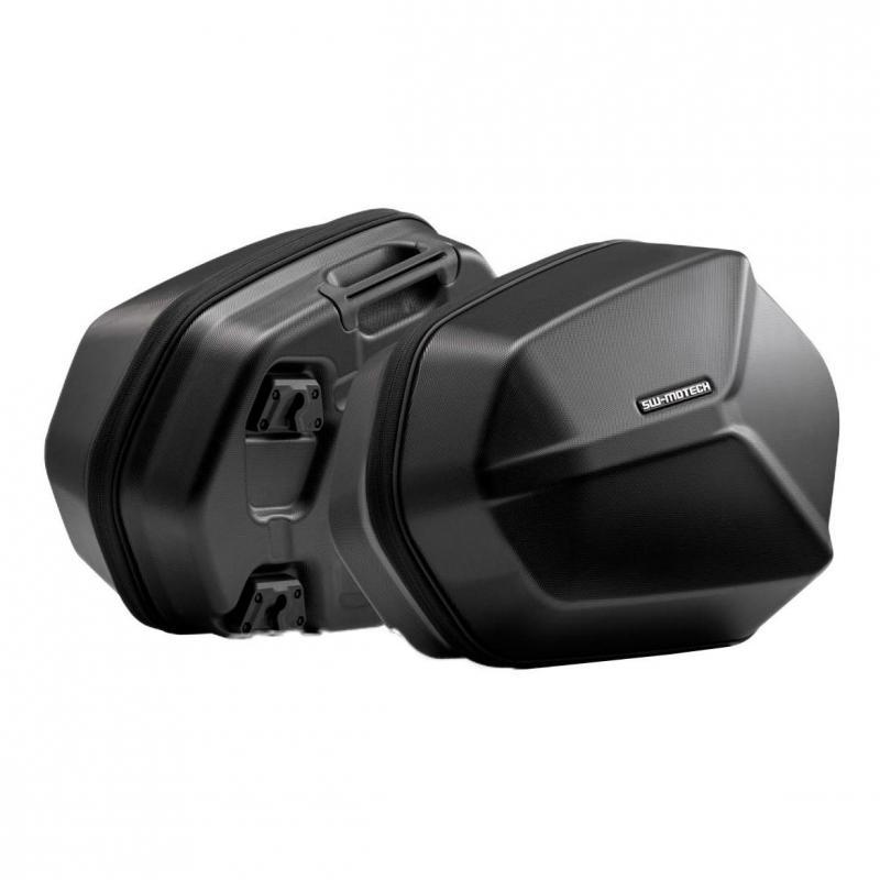 Valises latérale SW-Motech Aero ABS noires support EVO Kawasaki Versys 650 15-19