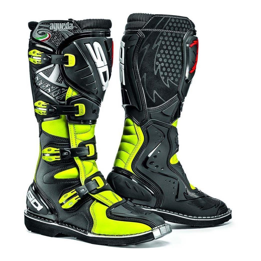 cross Sidi Jaune FluoNoir Bottes Agueda rodCexBW