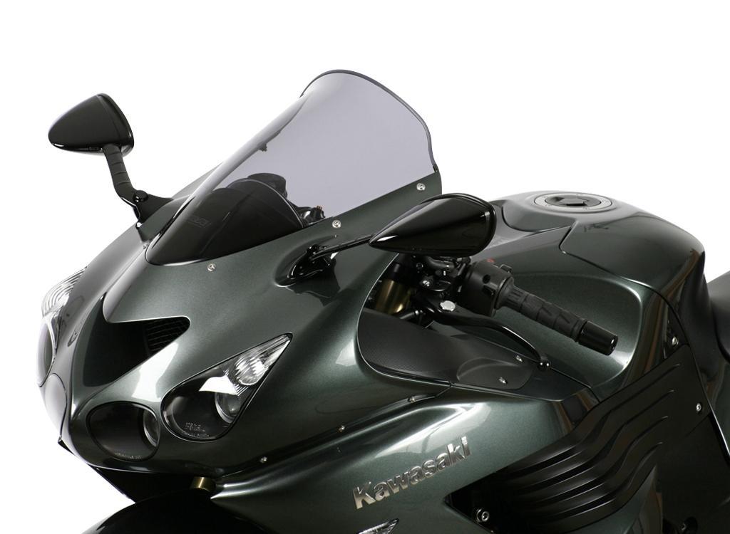 Color : Black Pare-brise moto Visor Llistat for Bulle 1993-2007 Kawasaki ZZR 400 ZZR400 ZZR600 600 MotorBike D/ÉFLECTEURS