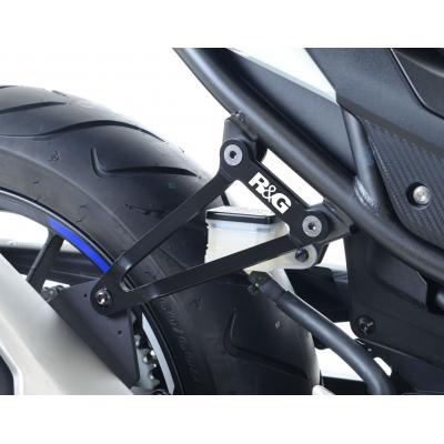 Patte de fixation de silencieux R&G Racing noire Honda CBR 500 R 16-18