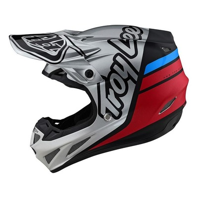 Casque cross Troy Lee Designs SE4 Composite Silhouette argent/noir