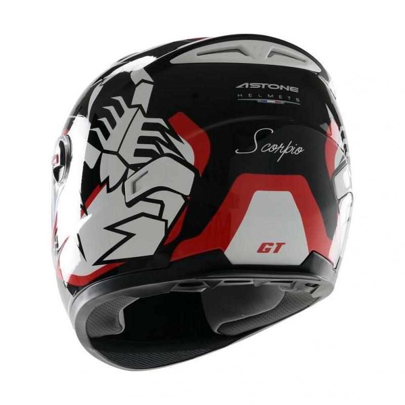 Casque Intégral Astone Gt Graphic Exclusive Scorpio noir/rouge - 1