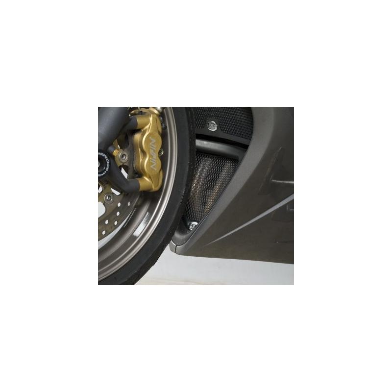Grille de protection de collecteur R&G Racing noire Triumph Daytona 675 05-12
