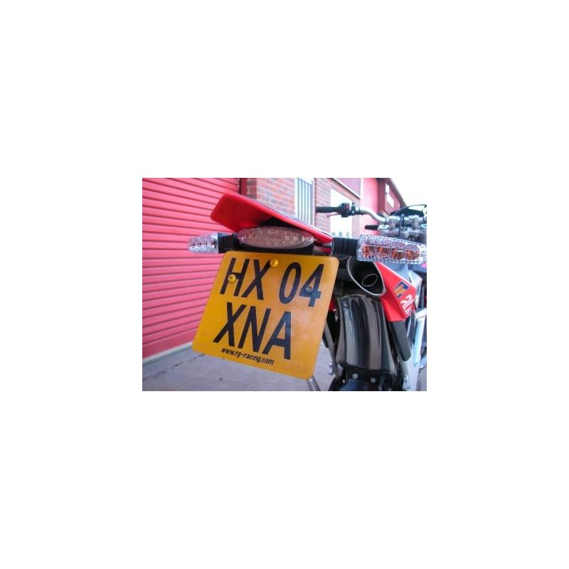 Support de plaque d'immatriculation R&G Racing noir Aprilia SXV 450 06-13