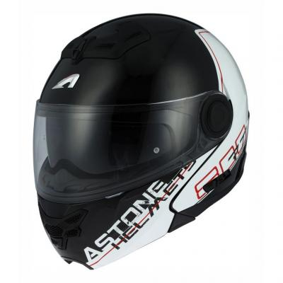 Casque modulable Astone RT800 graphic exclusive LINETEK rouge/blanc