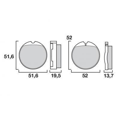 Plaquettes de frein d'origine Brembo carbone-céramique 07HO0130
