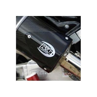 Protection de silencieux R&G Racing noir gauche GSX-R 1000 07-08 avec Yoshimura Tri-Oval