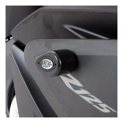Tampons de protection R&G Racing Aero noir Yamaha YZF-R 125 15-18