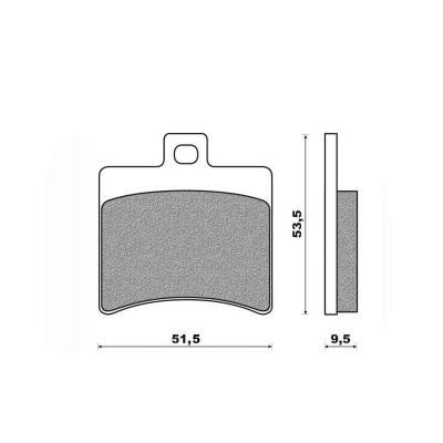 Plaquettes de frein Newfren Standard organique .FD.0267 BS