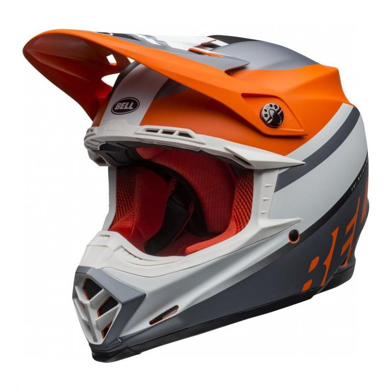 Casque cross Bell Moto-9 Mips Prophecy mat orange/noir/gris