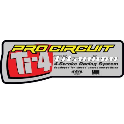 Autocollant Pro Circuit pour échappement Ti-4 Titanium
