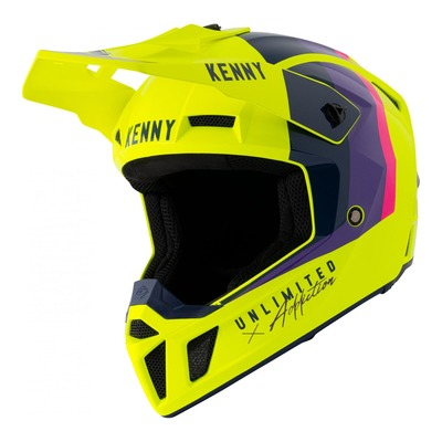 Casque cross Kenny Performance Graphic jaune fluo