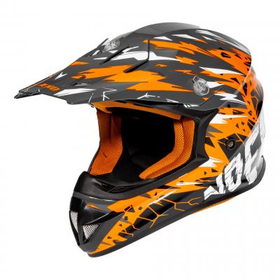 Casque Cross Noend Cracked orange