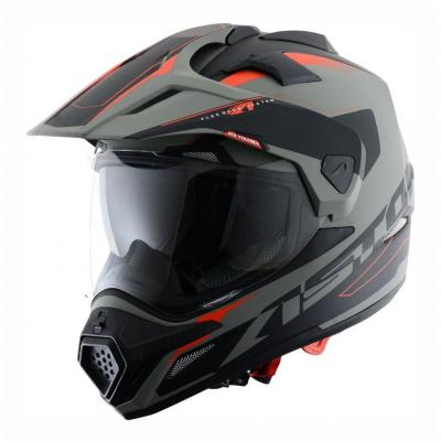 Casque intégral Astone CROSS TOURER GRAPHIC ADVENTURE gris/noir mat