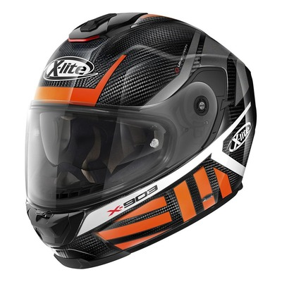 Casque intégral X-Lite X903 Ultra Carbon Cheyenne N-Com orange/gris/carbone