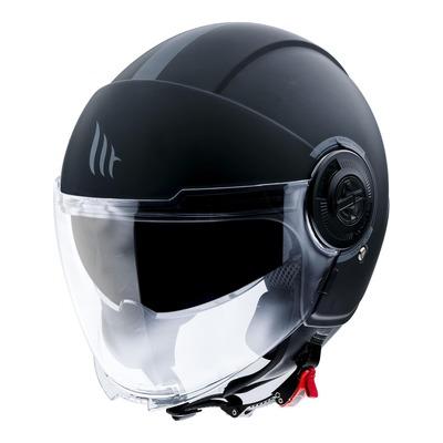 Casque jet MT Helmets Viale SV Uni noir mat