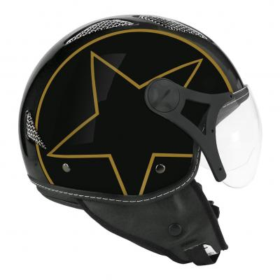 Casque jet TNT Helios Star noir/or brillant SB13B