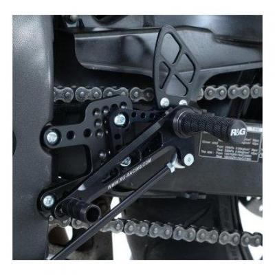 Commandes reculées R&G Racing noir Honda CBR 600 RR 03-14