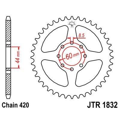 Couronne JT Sprockets Acier pas 420 52 dents - Pour Yamaha DT 50 R 99-02