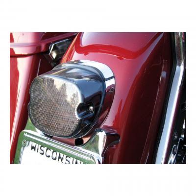 Feu arrière Drag Specialties Low-profile éclairage de plaque inférieur Harley Davidson 99-19 Fumé
