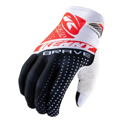 Gants cross Kenny Brave noir/blanc/rouge