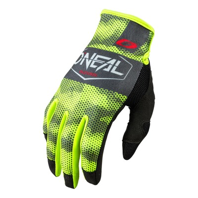 Gants cross O'Neal Mayhem Covert charcoal/jaune fluo