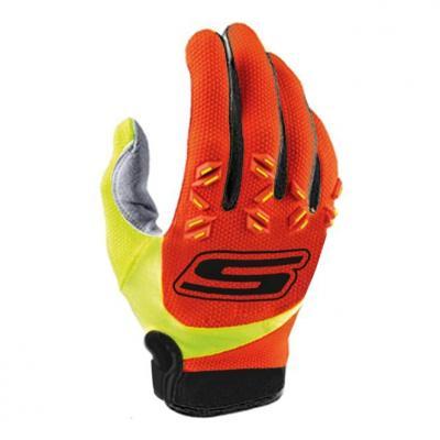 Gants cross S-Line Mx cross US tactile CE orange/jaune