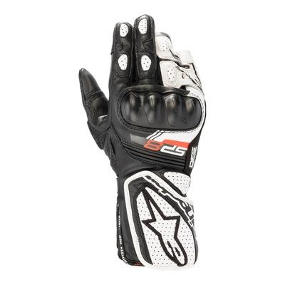 Gants cuir/textile femme Alpinestars Stella SP-8 v3 noir/blanc