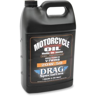 Huile moteur Drag Specialties V-Twin 20W50 3,8 litres