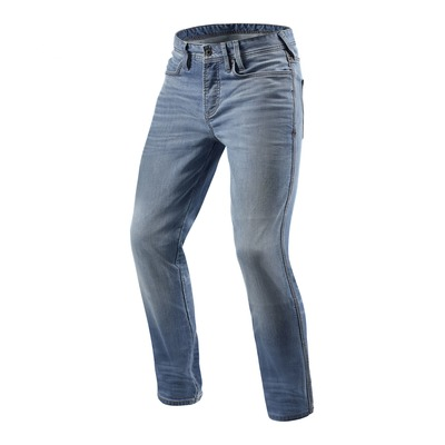 Jeans moto Rev'it Piston longueur 34 (standard) bleu clair