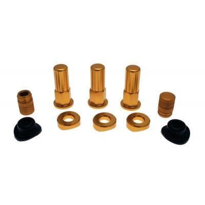 Kit écrous pour Gripster Bihr avec capuchon et joints de valve couleur or