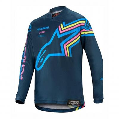 Maillot cross enfant Alpinestars Racer Braap navy/aqua/rose fluo