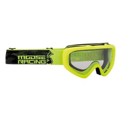 Masque cross enfant Moose Racing Qualifier Agroid jaune fluo/noir – écran clair