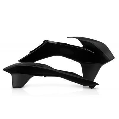Ouïes de radiateur Acerbis KTM 400/450 EXC 14-16 noir (paire)
