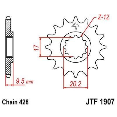 Pignon JT Sprockets Acier pas 428 14 dents - Pour KTM SX 85 04-17