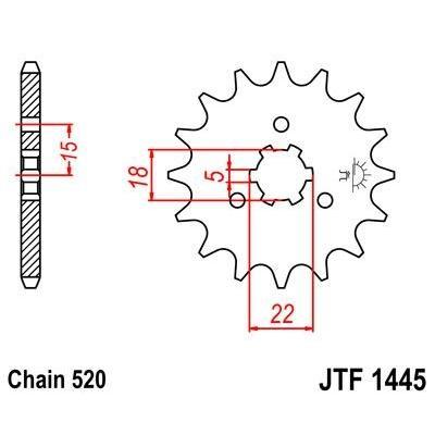 Pignon JT Sprockets Acier pas 520 13 dents - Pour Kawasaki KX 125 03-08 anti-boue