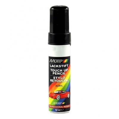 Pinceau retouche peinture Jaune colza brillant acrylique RAL 1021 Motip 12 ml M907074