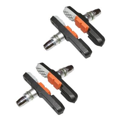 Porte-patins VTT Newton 72mm type Shimano orange/gris/noir (vis déportée)