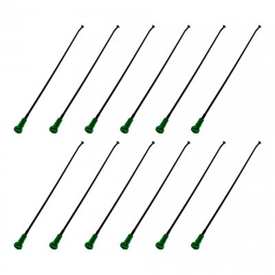 Rayons + têtes de rayon Kite roue avant 21'' noir/vert