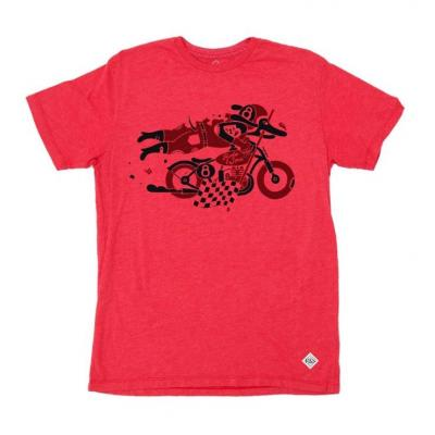 Tee shirt Ride And Sons DAREDEVIL Heather Lucky Lefthand rouge